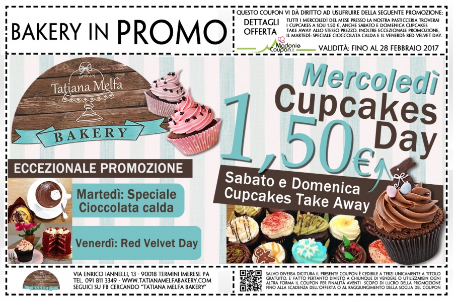 Bakery in Promo - Cupcakes a soli 1,50 €