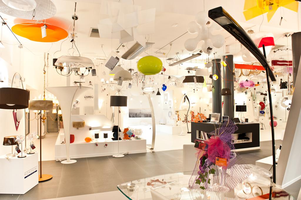 Negozio Abbigliamento Rilux Mondoluce Lampadari Moderni Lampade